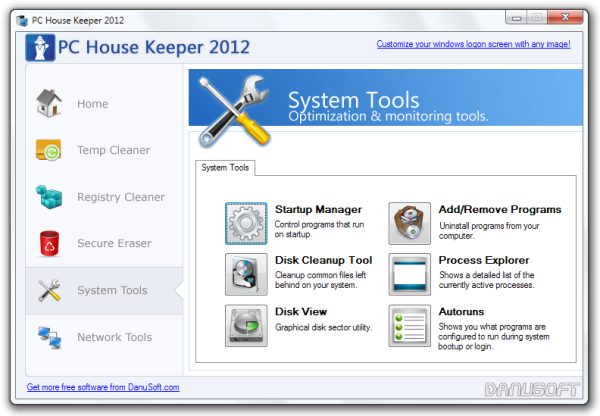 PC House Keeper 2012 System Tools