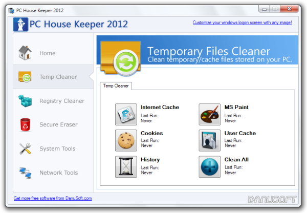 PC House Keeper 2012 Temp Cleaner