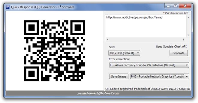 Quick Response (QR) Generator - L² Software