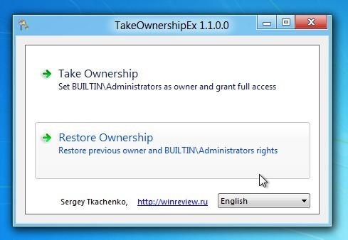 Restore ownership