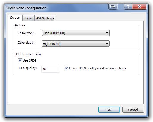 SkyRemote configuration