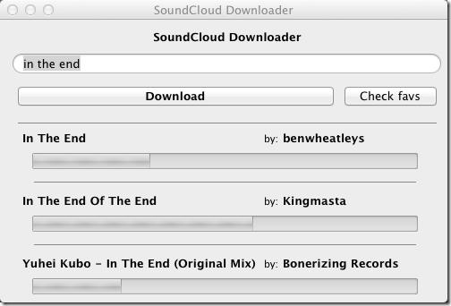 Soundcloud tracks downloading