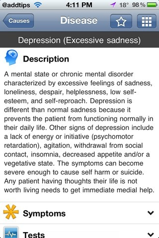 iTriage Disease Description