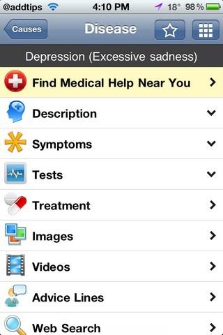 iTriage Disease List