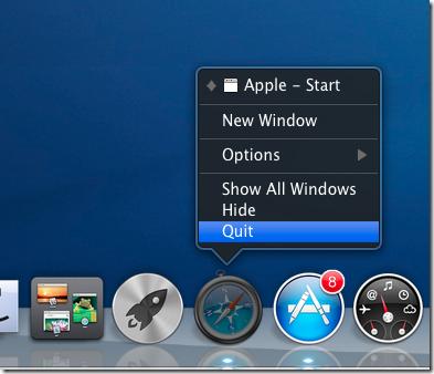 quit app