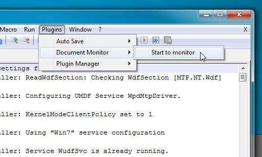 start monitor 1