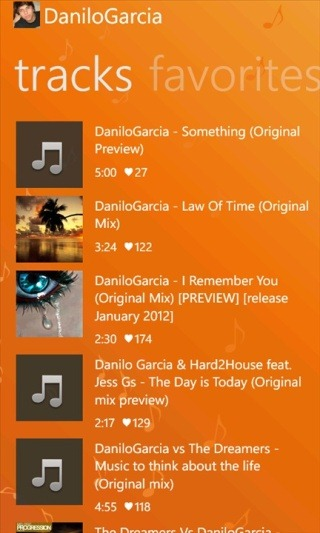 track musiccloud