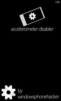 Accelerometer Disabler WP7