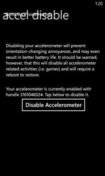 Accelerometer Disabler