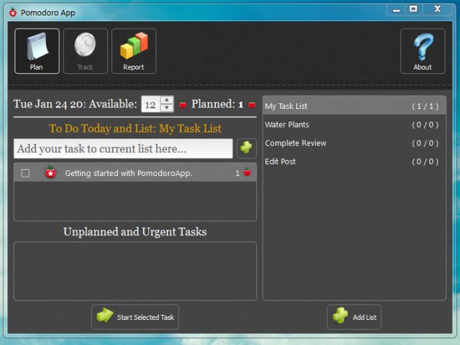 Add Tasks to PomodoroApp