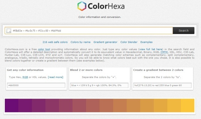 ColorHexa Home