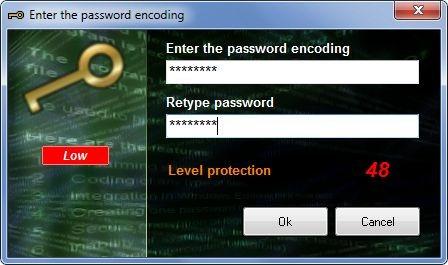Enter the password encoding