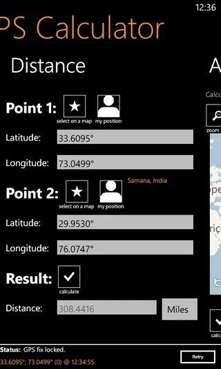 GPS Calculator Distance