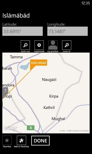 GPS Calculator Map Projection