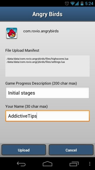 Game-On-Android-Upload