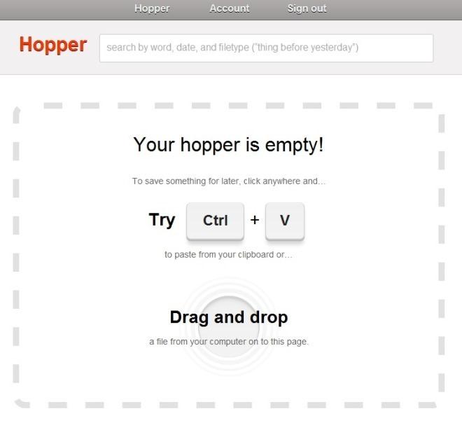 Hopper drag&drop
