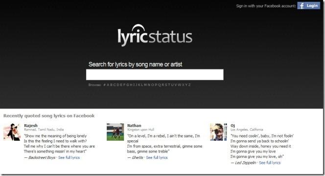 Lyricsstatus