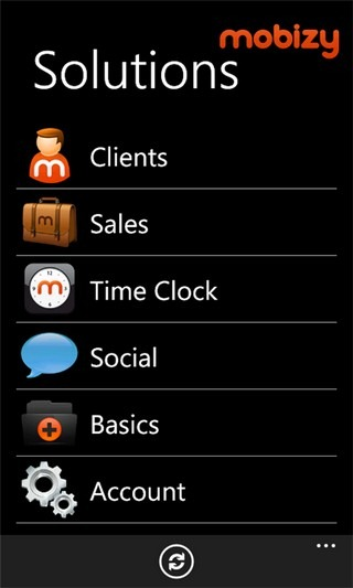 Mobizy WP7 Home