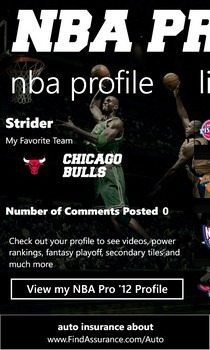 NBA Pro '12 Profile