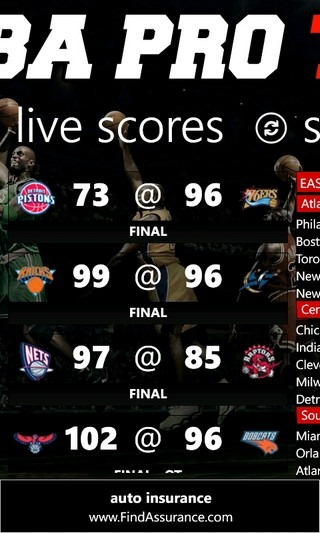NBA Pro '12 Scores