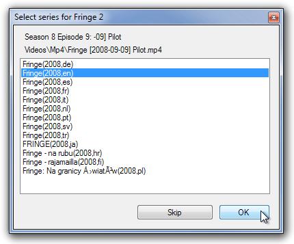 Select series for Fringe 2