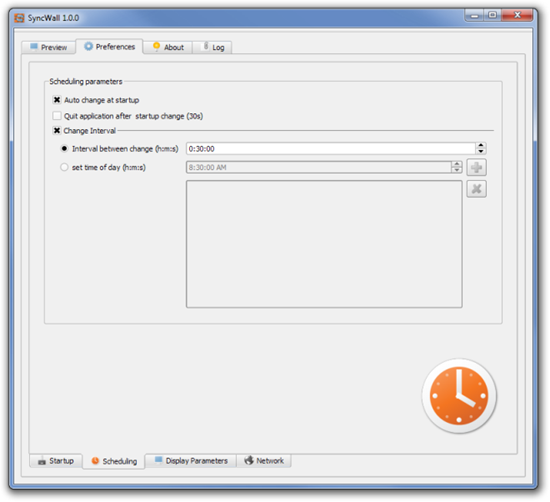 SyncWall 1.0.0 Schedulling