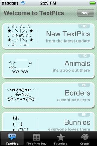 TextPics Homepage