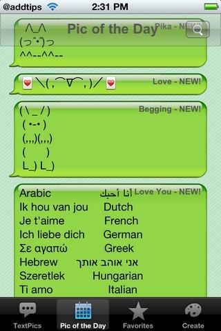 TextPics iOS