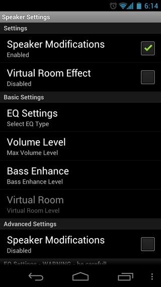 Volume -Beta-Android-Speaker-Setting
