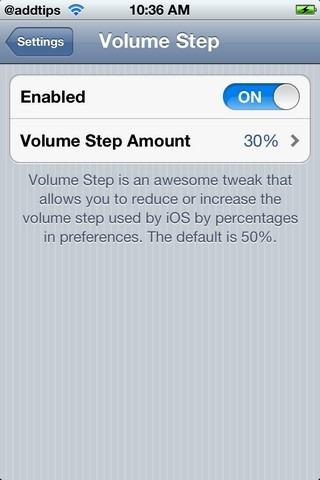Volume Step Cydia