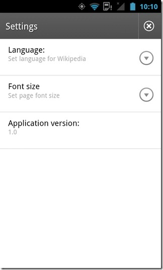Wikipedia-Android-Settings