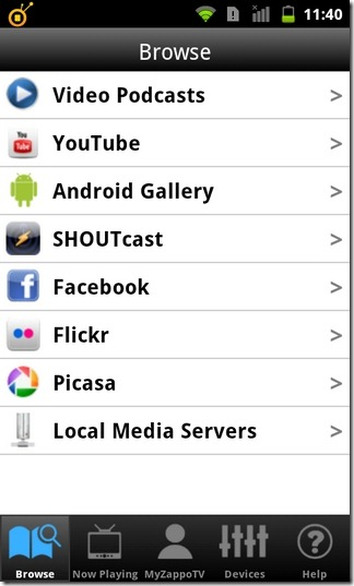 ZappoTv-Android-Browse