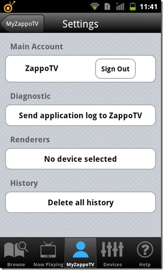 ZappoTv-Android-Settings