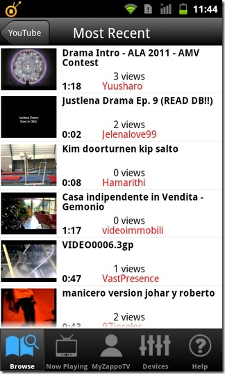 ZappoTv-Android-YouTube