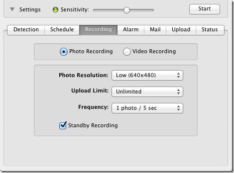 iSentry recording