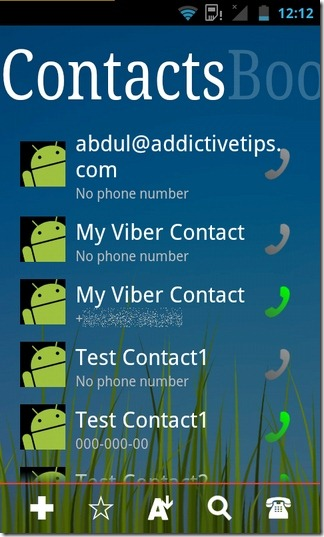 ssLauncher-Android-Contacts