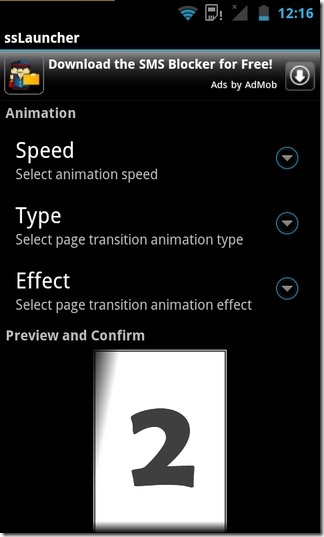 ssLauncher-Android-Effects