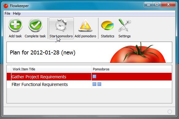 start pomodoro