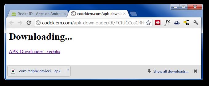 APK Downloader for Chrome