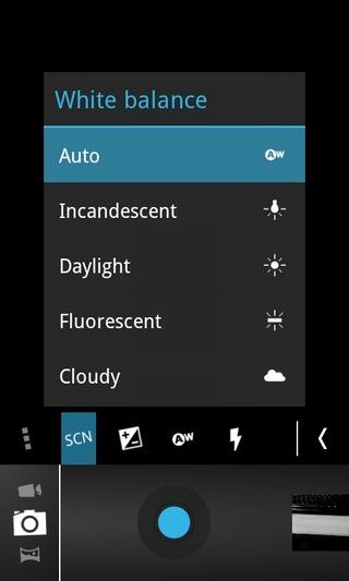 Camera-ICS-Android-Menu