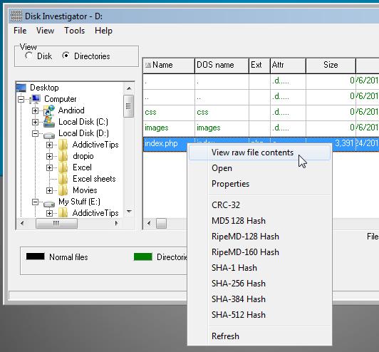 Disk Investigator file explorer