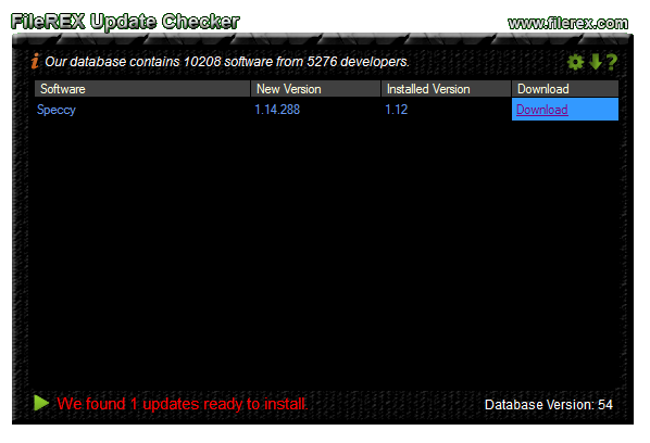 FileREX Update Checker