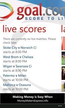 Goal.com WP7 Live Scores