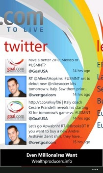 Goal.com WP7 Twitter