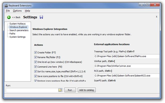 Keyboard Extensions Settings