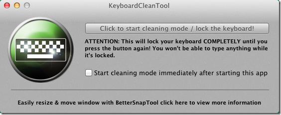 KeyboardClean enable
