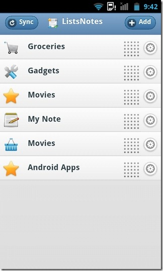 Lists-Notes-Android-Home