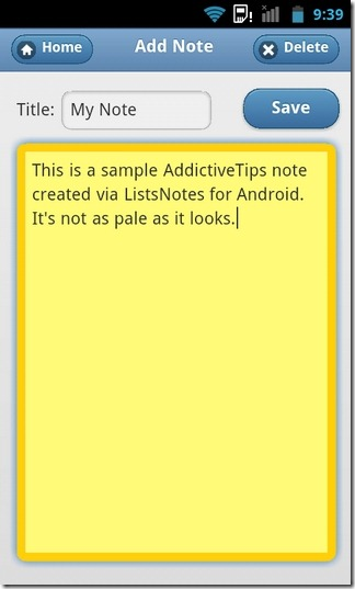 Lists-Notes-Android-Notes