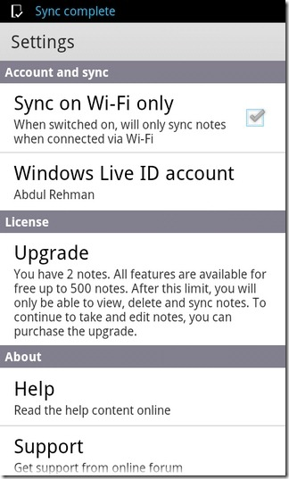 Microsoft-OneNote-Mobile-Android-Settings