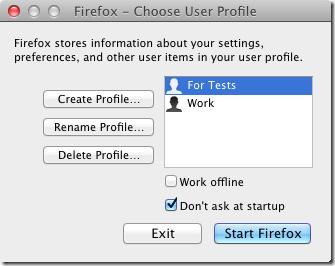 MultiFirefox profile manager